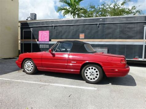 1994 Alfa Romeo Spider by Sell Used 1994 Alfa Romeo Spider Veloce Convertible