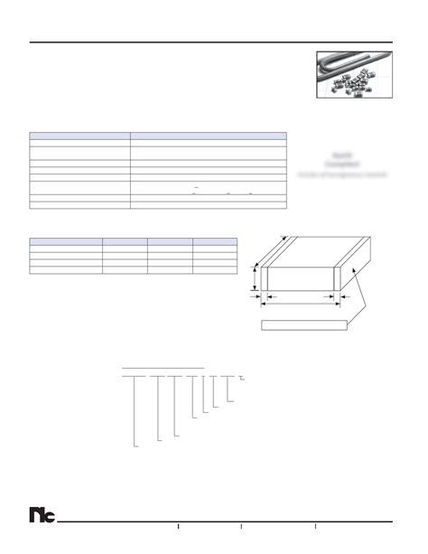 ceramic capacitor datasheet esr nmc q0603npo1r2 50trpf datasheet multilayer ceramic chip capacitors