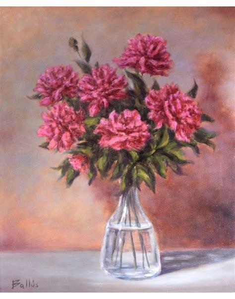 cuadro con flores cuadro flores en jarr 243 n pintura original
