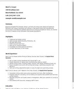 Digital Print Operator Cover Letter professional digital print operator templates to showcase your talent myperfectresume