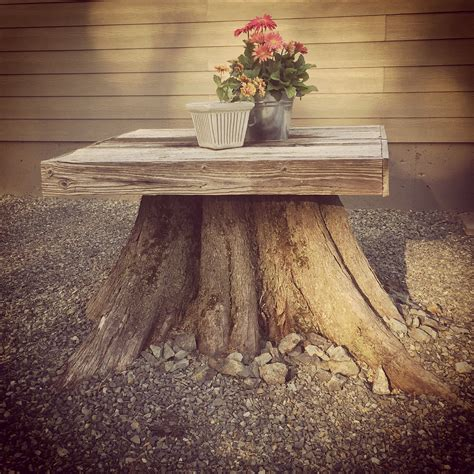 wood stump tree stump home outdoor spaces pinterest