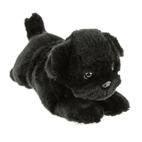black pug stuffed animal black pug puddles 28cm soft plush stuffed animal bocchetta plush toys