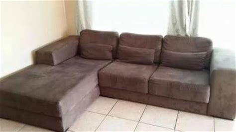 suede l shaped couch l shaped brown suede couch pinetown lounge furniture