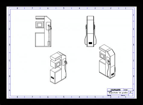 dispense autocad gasoline dispenser in autocad cad free 0 25 mb