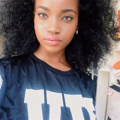 black female studs hair style 85 best images about septum piercing which septum