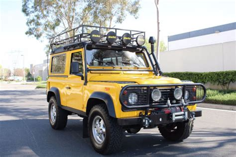 land rover defender 90 yellow 1994 land rover defender 90 d90 d 90 in yellow for sale