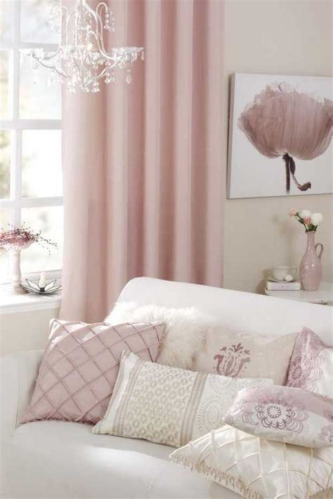 Pale Pink Curtains Decor So Pretty More Like Muted Mauve With And Pale Taupe Than Pink And Gray Pink Gray