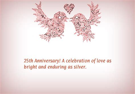 25th Wedding Anniversary Wishes Or Messages by 25th Wedding Anniversary Cards