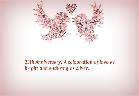 25th Wedding Anniversary Cards