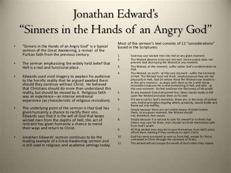 Sinners In The Of An Angry God Essay by Excellent Ideas For Creating Sinners In The Of An Angry God Essay