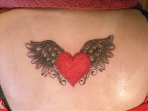 heart with wings tattoo on wrist 107 best tattoos images on bees insects and