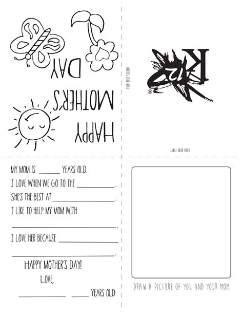 simple mothers day card activities with templates for 6th graders printable s day card learning liftoff