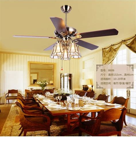 Dining Room With Fan American Copper Shade 52inch Ceiling Fan Lightstiffany