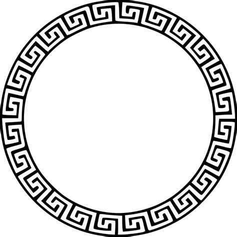 greek pattern svg free vector graphic greek city states circle free