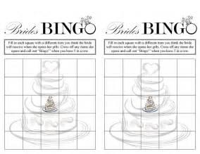 bridal shower bingo free printable bridal shower