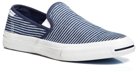 Jual Converse Purcell Slip On lyst converse purcell ii striped slip on sneakers in blue for