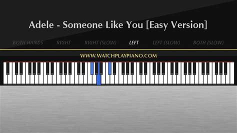 tutorial keyboard someone like you adele someone like you easy piano tutorial youtube