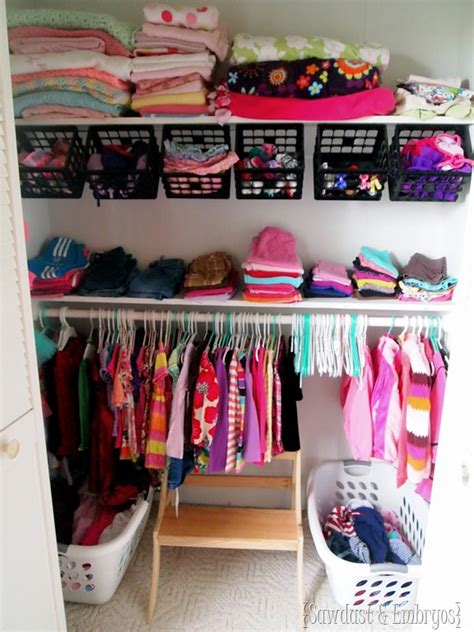 clothing organization nursery closet update organization ideas sawdust and