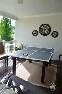Diy Ping Pong Table Ping Pong Table On Pinterest Ping Pong Room