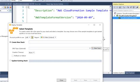 Learn Aws Cloud Formation Aws Toolkit For Visual Studio Sogeti Labs Aws Cloudformation Templates