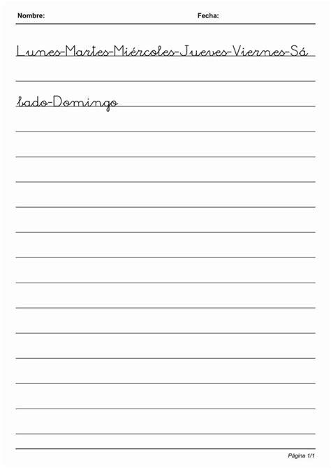 free printable handwriting worksheets in spanish 17 migliori idee su attivit 224 di spagnolo su pinterest