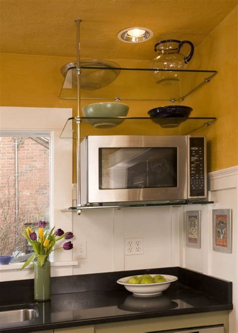 kitchen cabinet glass shelves suspended glass shelf in kitchen kitchens pinterest