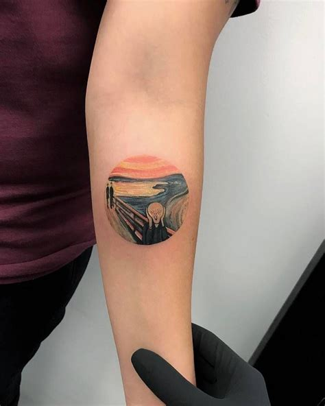 scream tattoo edvard munch s the scream on the left inner forearm