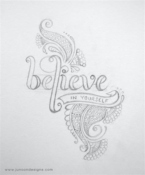 doodle draw yourself believe in yourself by faheema patel via behance
