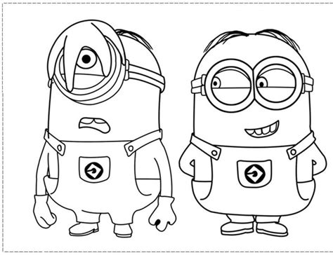free coloring pages minions free printable minion coloring pages pinterest free