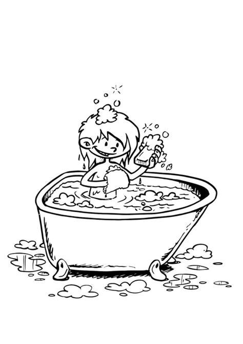 nella vasca da bagno disegno da colorare nella vasca da bagno cat 19195