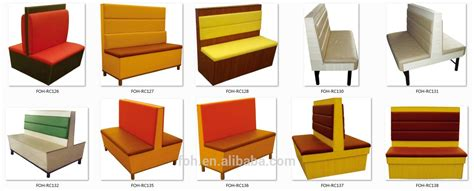 6 Foot Sofa modern fast food restaurant furniture booth seating and