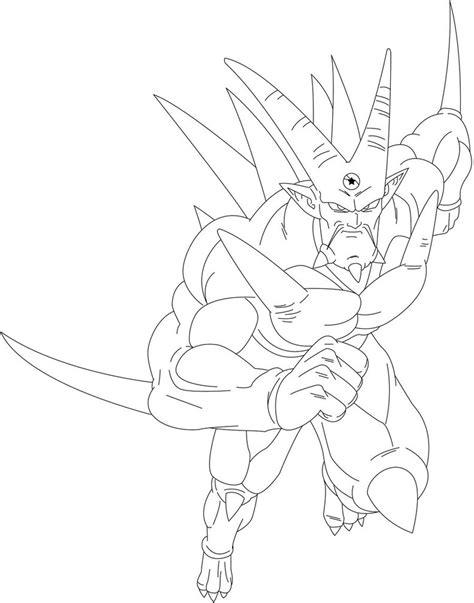 dragon ball z shenron coloring pages omega shenron lineart by kingvegito on deviantart