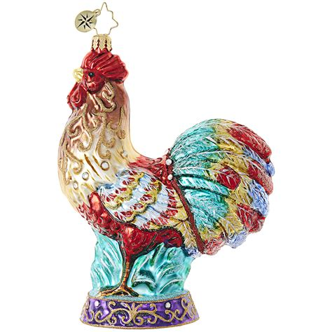 images of christmas roosters christmas rooster ornament by christopher radko