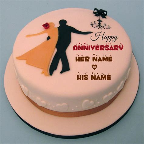 Wedding Anniversary Wishes Name Editing by Write Your Name On Anniversary Cakes Pictures Edit