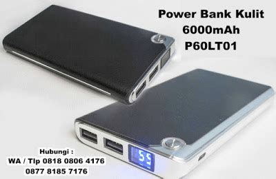 Power Bank Murah Di jual souvenir power bank kulit 6000 mah p60lt01 barang