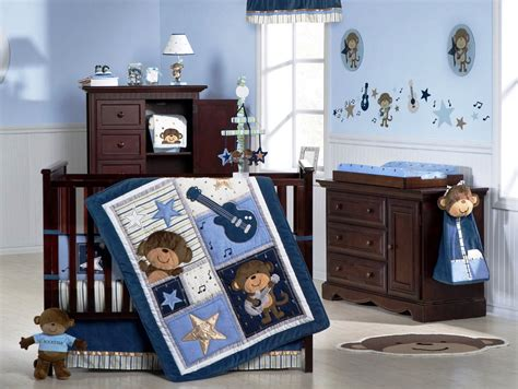 cute themes for boy nursery baby nursery decor musical theme blue colored with wooden