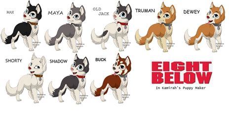eight below names husky what are the names of the husky dogs in the husky names
