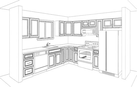 Draw Kitchen Cabinets Image Gallery Kitchen Drawing