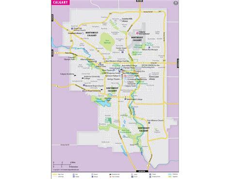 map world calgary buy calgary map