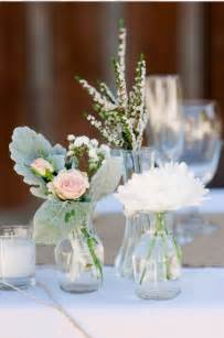 mixed bud vase centerpieces wedding floral