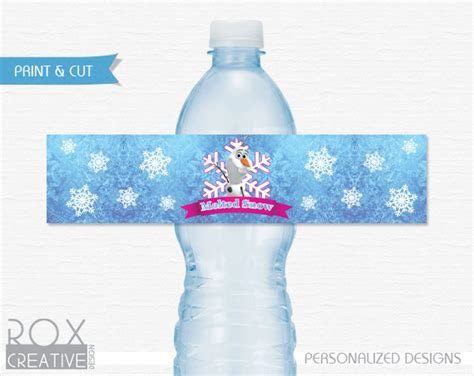 frozen printable melted snow frozen melted snow printable water labels digital design 5