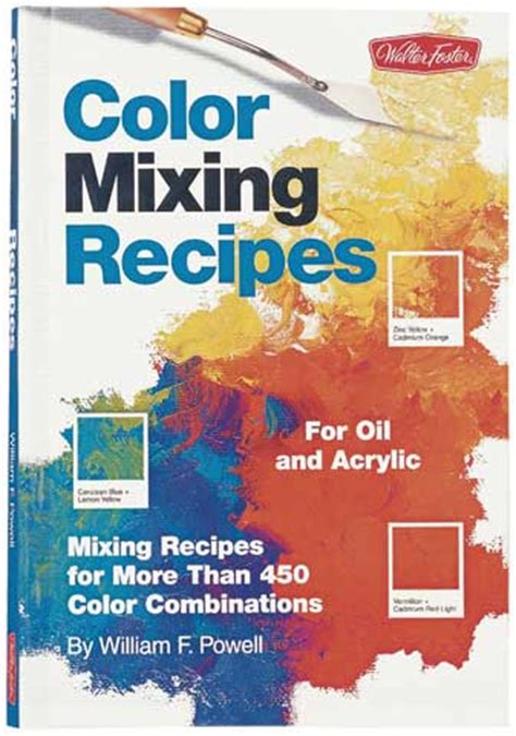 acrylic paint color mixing recipes color mixing recipes by walter foster materials