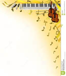 3d vertical musical corner frame with piano violins and notes
