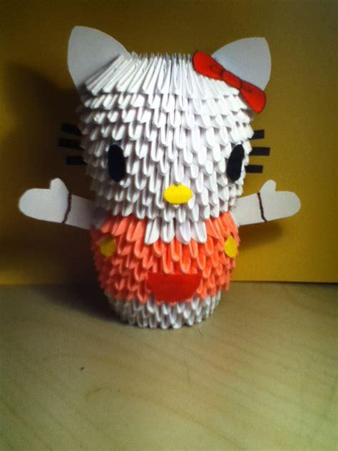 3d Origami Hello - 3d origami hello by crazycake28 on deviantart