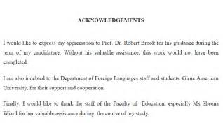 Research Paper Acknowledgement Exle by Msc Dissertation Acknowledgement Sle