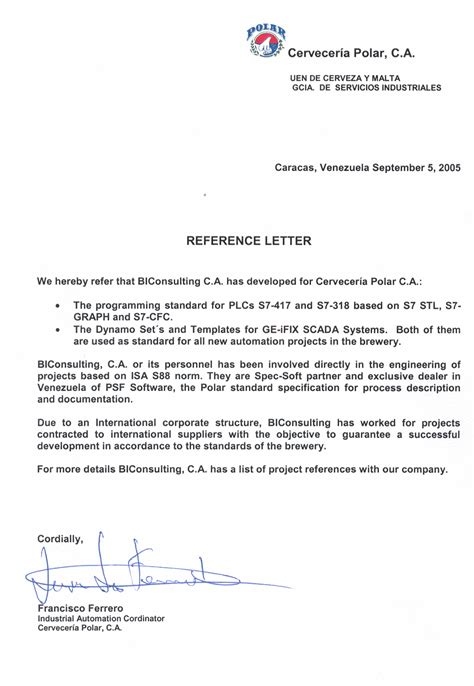 Reference Letter For tips for writing a reference letter