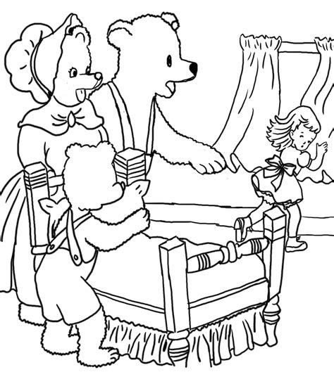 coloring page for goldilocks and the three bears goldilocks coloring pages bestofcoloring com