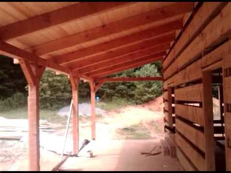 front porch framing  roof deck complete youtube