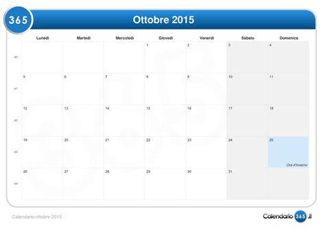 Calendario Ottobre 2015 Calendario Ottobre 2015
