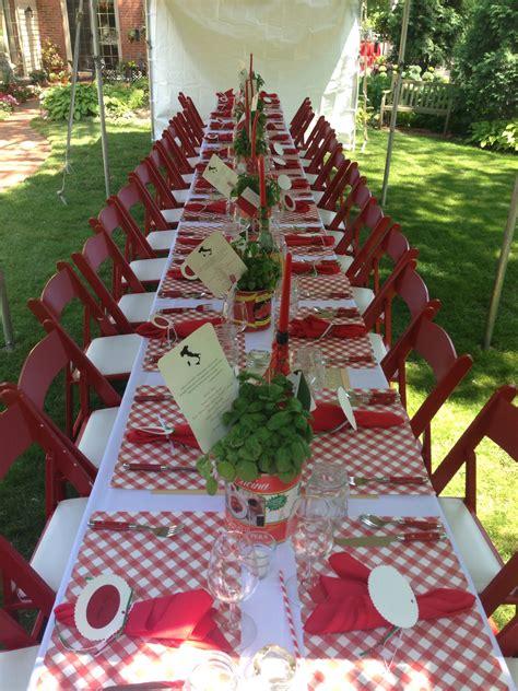 italian themed events italian table setting wedding shower pinterest